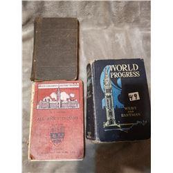 3 Antique Canadian books