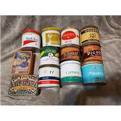 Lot of 11 tobacco tins, one soap tin