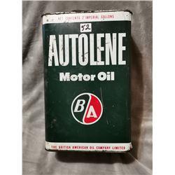 B/A oil tin, Autolene
