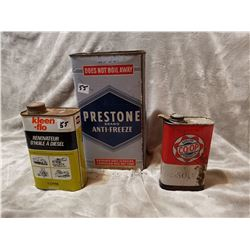 Lot of 3 oil related tins