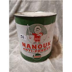 Nanouk antifreeze tin can