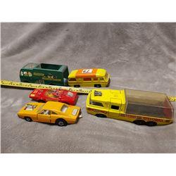 5 Matchbox king size toy vehicles