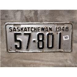 1948 Saskatchewan license plate
