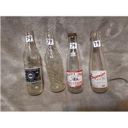 4 Prairie pop bottles