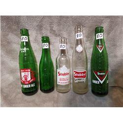 Lot of stubby/Drewery bottles