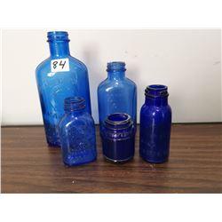Blue & Coblat blue bottles, older