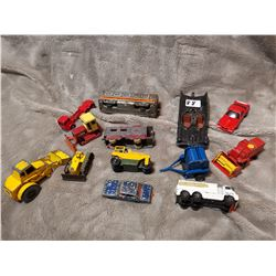Lot of older toy vehicles