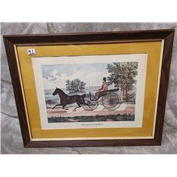 "22"" X 17"" antique original print, The Road Summer"
