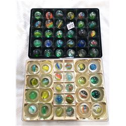 2 trays of larger marble shooters