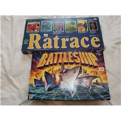 2 vintage board games - Rat Race & Battleship