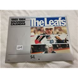1983/84 Maple Leafs calendar for season of NHL