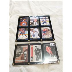 Framed hockey cards, McDavid & Howe