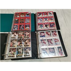 3 NHL & 1 MLB albums full of cards