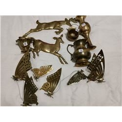 Lot of brass items, 12 pieces