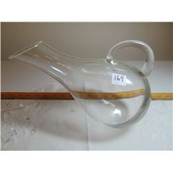 LARGE HAND BLOWN PITCHER