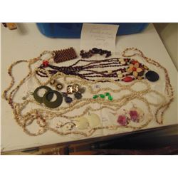 VINTAGE SEED & SHELL & COSTUME JEWELRY LOT