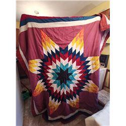 211.  Star blanket quilt, 6 feet x 5 ½ feet