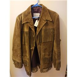 """215.  Fringed leather suede jacket, """"Colt Horsehide"""", Canada, size 40, 1970's"""