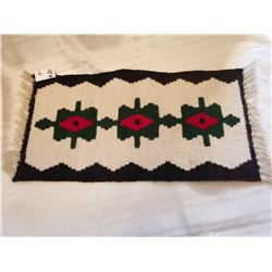 "221.  Navaho woven wool rug, 18"" x 8 "", contemporary"