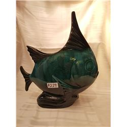 """229.  Blue Mountain pottery fish, #58, 16 """" high"""