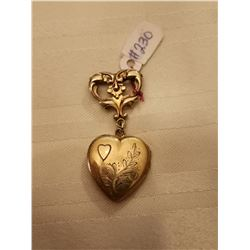 230.  Vermeil Sweetheart pin (gold fill on sterling)