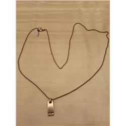 """236.  Sterling silver beaded chain, 30"""" with pendant"""