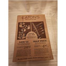 244.  Eaton's Fall and Winter catalogue, 1972, original wrapper