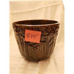 "245.  Brush-McCoy planter, ""Woodland"", circa 1920, small fleabite on rim, USA"