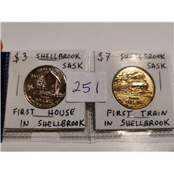 Rare Shellbrook, SK $3 & $7 tokens