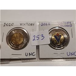 victory toonies, color and non color