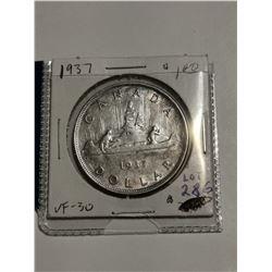 1937 $1 Silver dollar VF 30