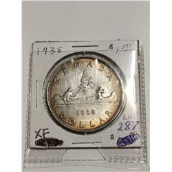 1938 $1 silver dollar, XF