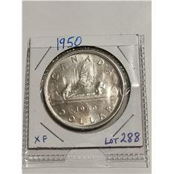 1950 $1 silver dollar, XF+