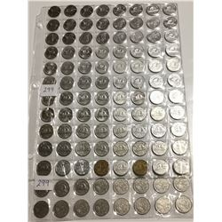 104 different 5 cent coins, 1922-2018 missing 1925, 1926
