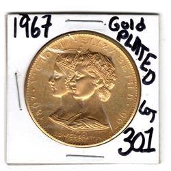 301 1967 GOLD PLATED ON BRONZECOMMEMMORATIVE TOKEN LOMBARDO MINT