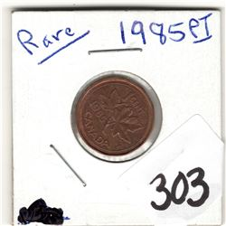 303 SCARCE 1985 POINTED 5 ONE CENT SCARCE