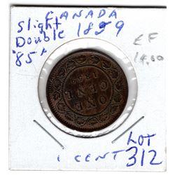 312 1859 SLIGHT DOUBLE 85 LARGE CENT