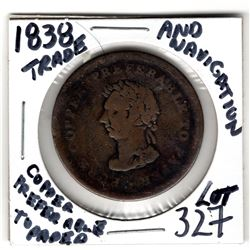327 COPPER PREFERABLE TO PAPER EARLY COLONIAL TOKEN