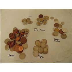 333 BAG OF FOREIGN COINS SEE PHOTO