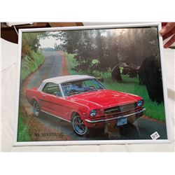 """1965 Ford Mustang framed picture 20"""" X 16"""""""