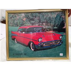 """1957 Chevy Bel Air framed picture 21"""" X 17"""""""