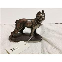 "Antique cast iron bulldog 6"" X 5"""