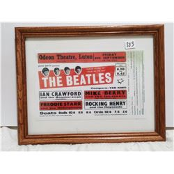 """The Beatles show advertising in early years, 14"""" X 11"""""""