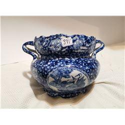 """Blue flower vase 10"""" X 7"""""""