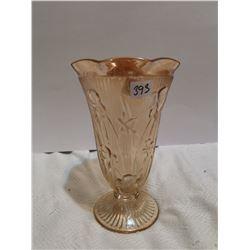 "depression glass vase 9"""