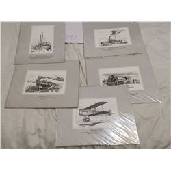 """5 vintage vancouver pitures 11"""" X 14"""""""