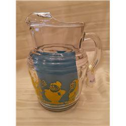 "408.  Disney, ""Snow White and the seven Dwarfs"" glass pitcher by Libbey Glass, 1938"