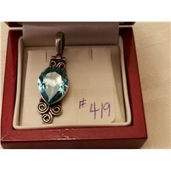419.  Sterling (925) pendant with turquoise stone