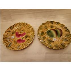 431.  Majolica plates, Sarreguemines, Utz-schneider & Co, 1920-50