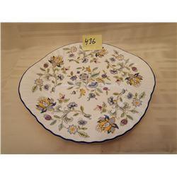 "436.  Chintz cake plate, ""Halldon Hall"" Minton, England"